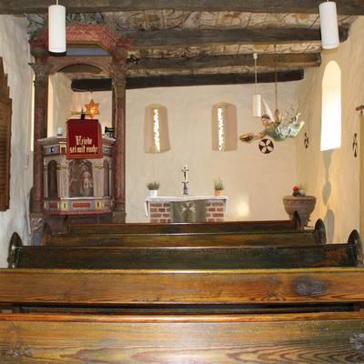 Kirche Schönfeld alt Innenraum