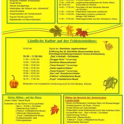 steinfelder bauernmarkt 2016 programm