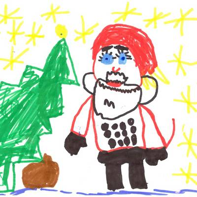 hier der weihnachtsmann kommt