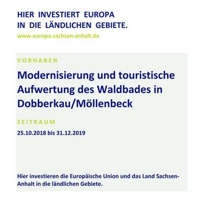 modernisierung und touristische aufwertung des waldbades in dobberkau moellenbeck eler