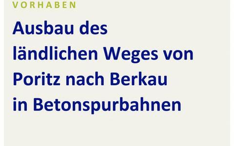 Baustellenschild LWB Poritz Berkau