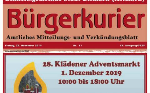 Amtliches Mitteilungs- und Verkündungsblatt Bürgerkurier
